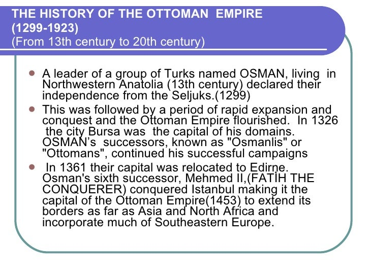 THE HISTORY OF THE OTTOMAN EMPIRE ... - Hulya - Ottoman Empire Timeline  Cymun - Ottoman Empire Timeline Cymun Designs