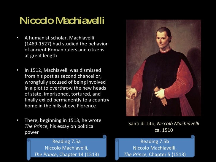 essay on the prince by niccolo machiavelli
