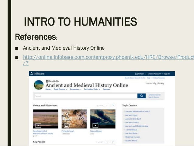 Intro to humanities