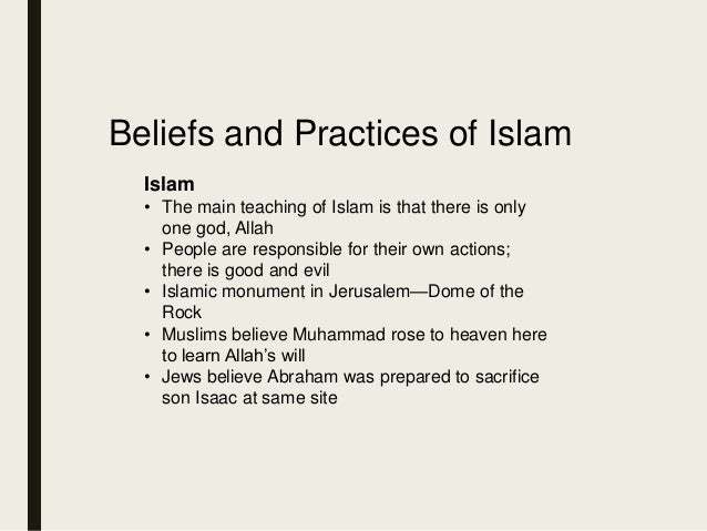 what beliefs and practices does islam