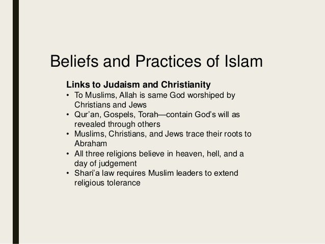 principle beliefs of islam Basic beliefs: christian versus muslim belief in: what christians believe: he will kill the pigs, break the cross, and call all humanity to islam.