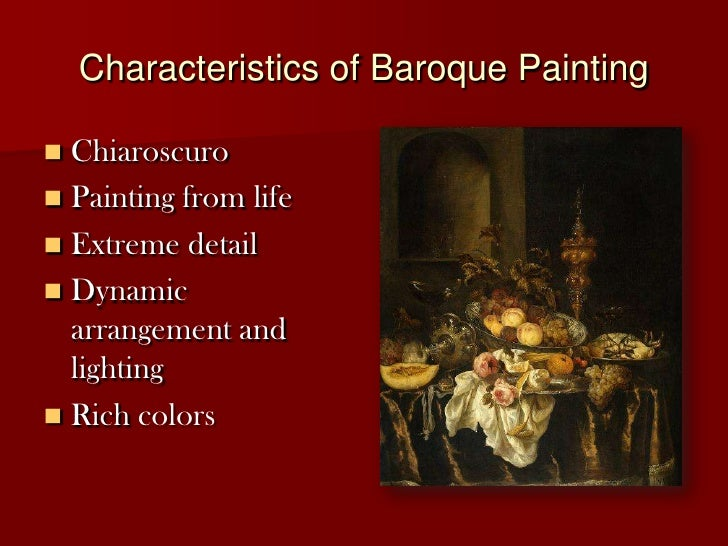 Hum1020 1030 Baroque Still Life Painting