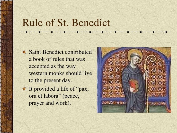 """the rule of st benedict In his famous book of dialogues, st gregory the great mentions that st benedict  of nursia composed a rule for monks """"remarkable for its discretion and its."""