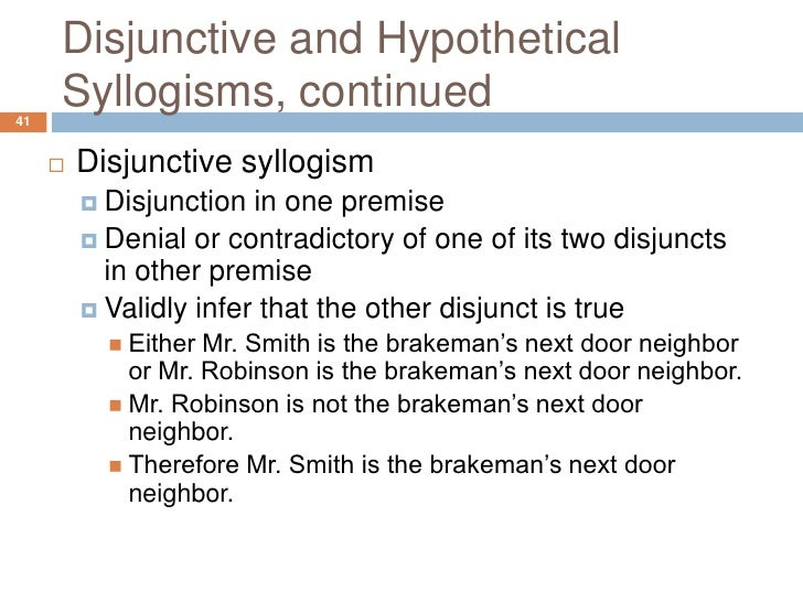 chapter 3 hypothetical syllogisms