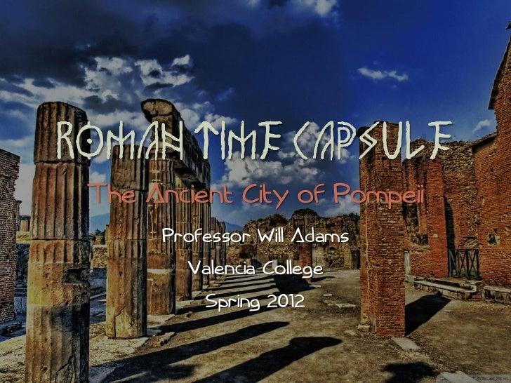 Hum2220 Roman Time Capsule Pompeii Herculaneum