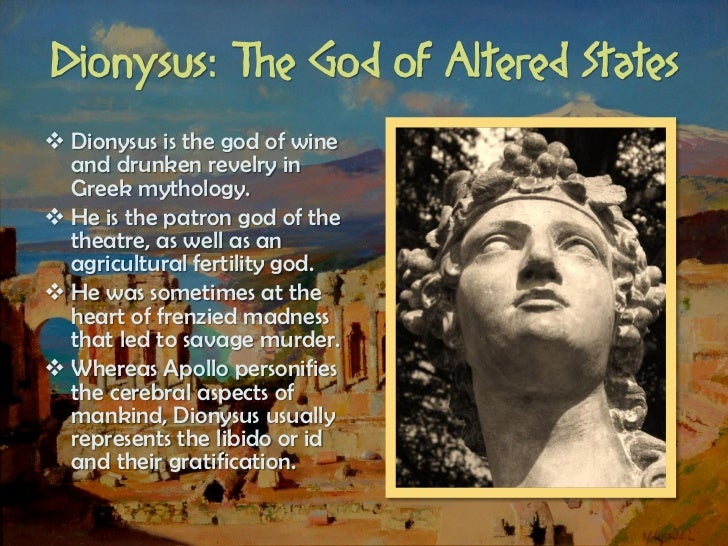 an essay on mythology dionysus and semele Dionysus was the last of the gods to become an olympian he was the son of zeus and semele, the daughter of cadmus and harmonia this was another of the affairs of zeus that infuriated his.