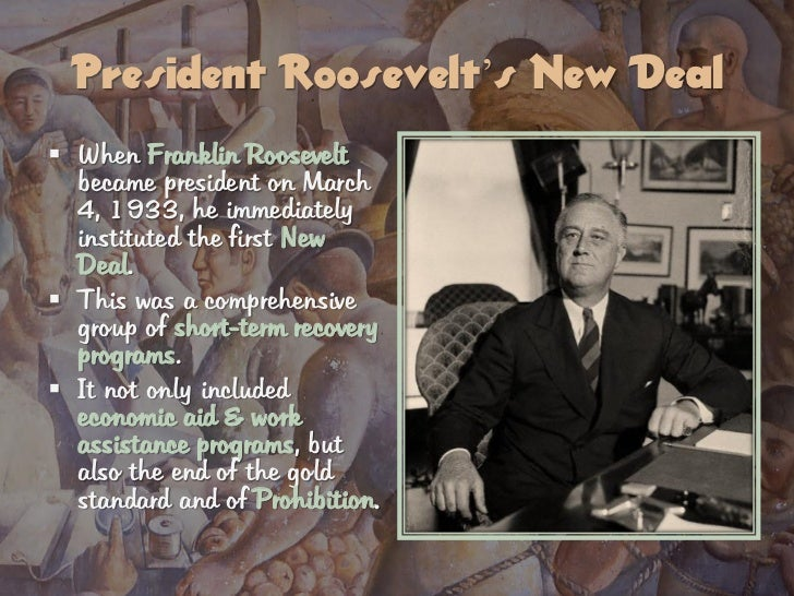 "were roosevelt s new deals responsible getting united stat The nya was molded by eleanor's ideas on youth, education, and equality   eleanor confessed that she was in constant fear that ""the united states was in   as a child, williams' family did not have the funds that would allow him to get a  full,  most of all, president roosevelt had to deal with, and overcome, the  scrutiny of."