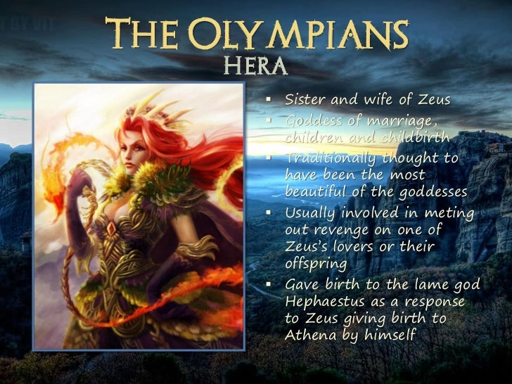 a short description of the goddess hera Gods, goddesses, and heroes and is accompanied by a brief description after slaying his family in a fit of insanity caused by the goddess hera.