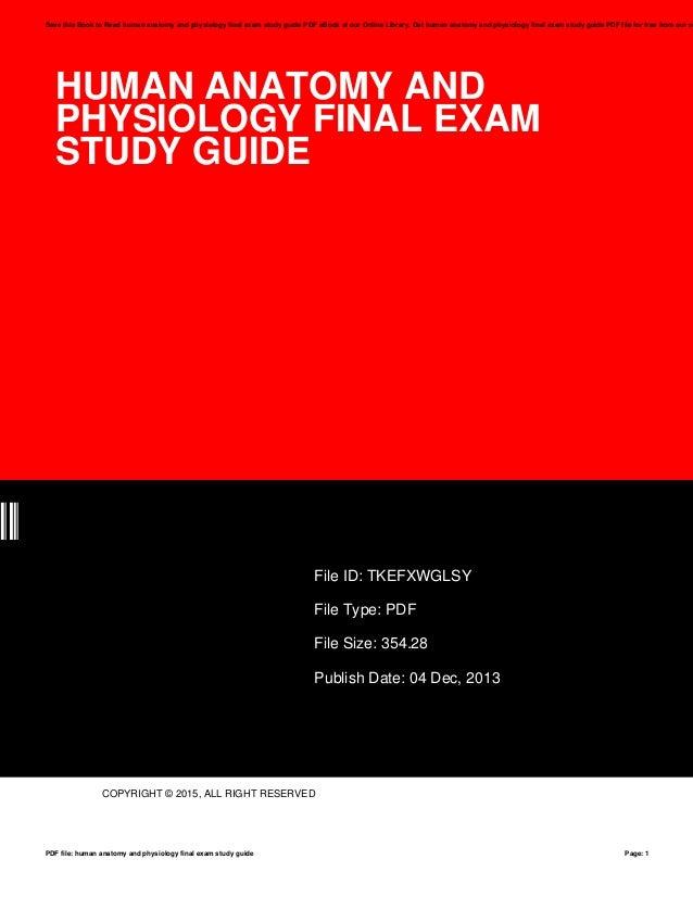Human anatomy exam