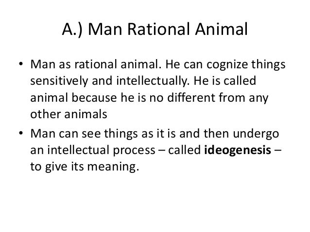 man is a rational animal
