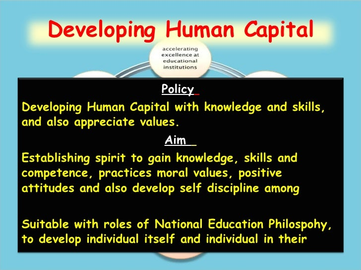 Developing human capital in national education blueprint 2006 2010 developing human capital 21 malvernweather Choice Image