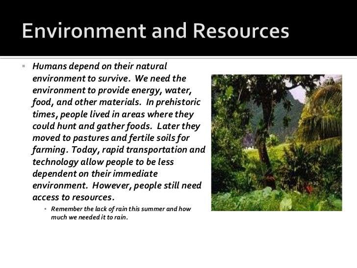 human environment interaction examples