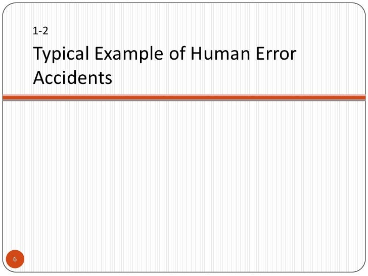 Human Error Prevention