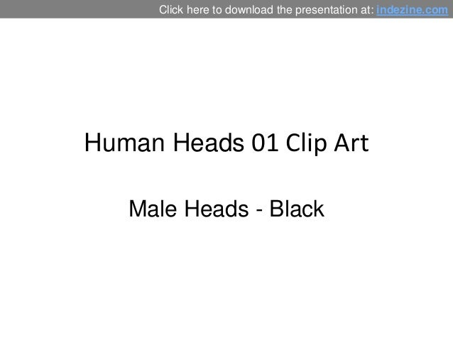 Male Head Silhouettes for PowerPoint - 01