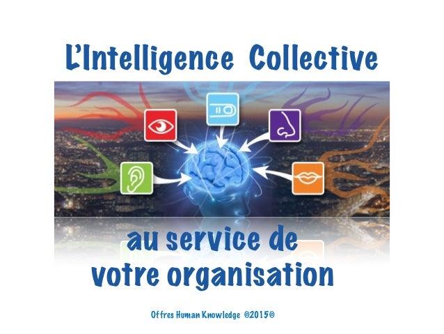 L'Intelligence Collective au service de votre organisation Offres Human Knowledge ©2015©