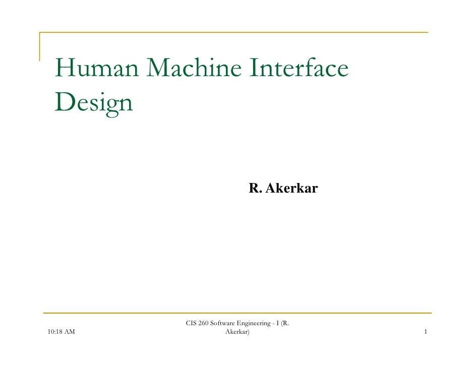 human machine interface technology