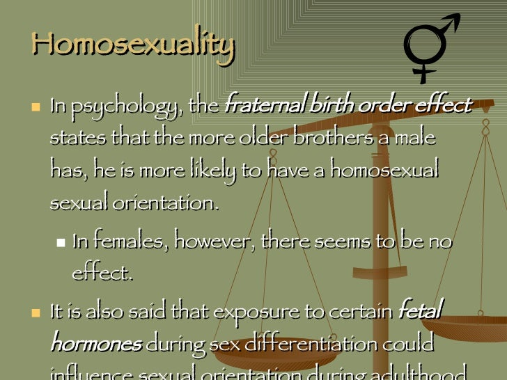 Fraternal birth order effect homosexuality in christianity