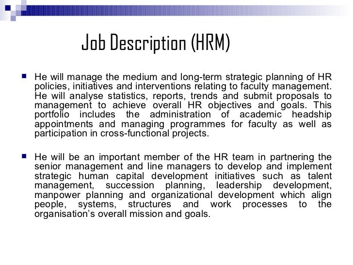 human resource planning in hotel business - Practice Director Job Description