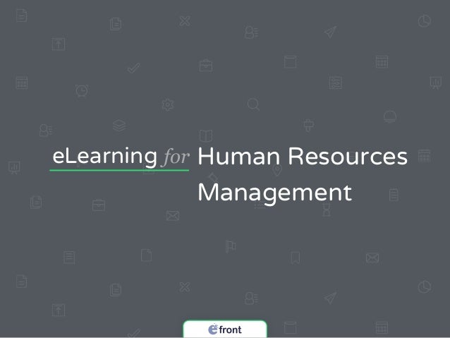 eLearning for Human Resources Management & eFront Learning