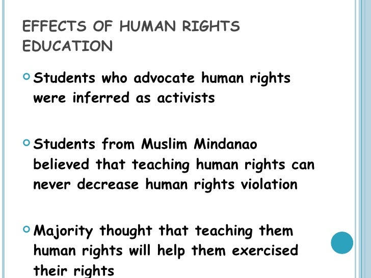 human rights in philippine schools  27 effects of human rights