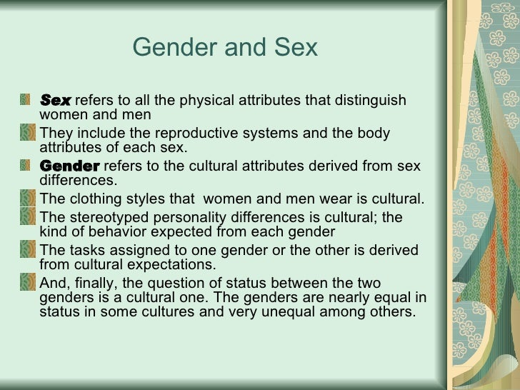Difference between gender and sexuality ppt