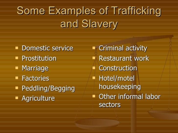 Human trafficking and modern day slavery essay