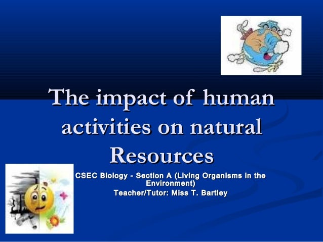 human impact on nature essay