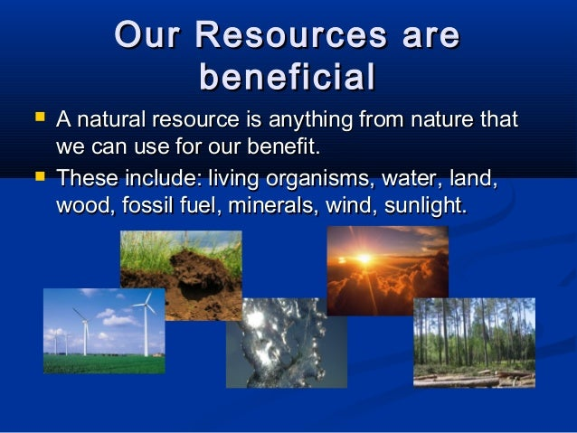 Effect of human activities on natural resources