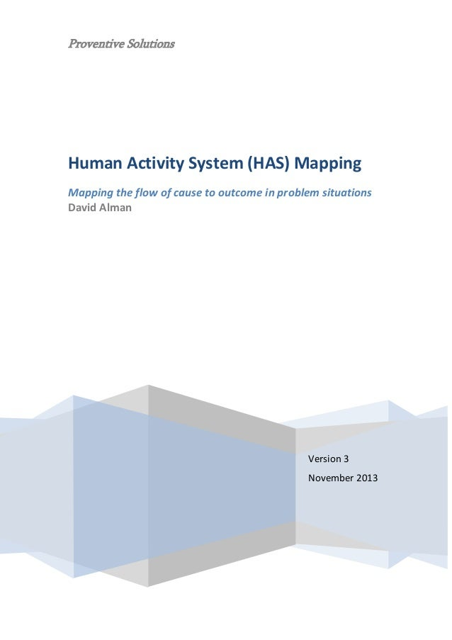 Proventive Solutions  Human Activity System (HAS) Mapping Mapping the flow of cause to outcome in problem situations David...