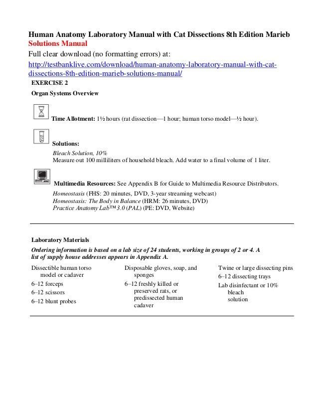 Marieb Lab Manual Fourth Edition - Trusted Wiring Diagrams •