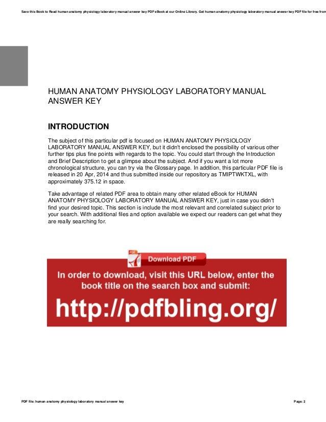 Human anatomy physiology laboratory manual answer key