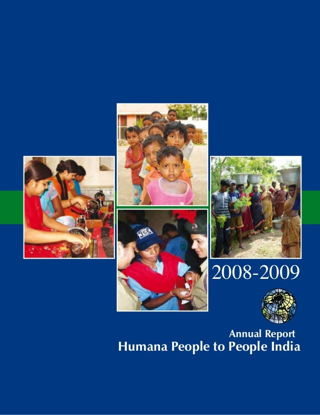 2008-2009 Annual Report Humana People to People India