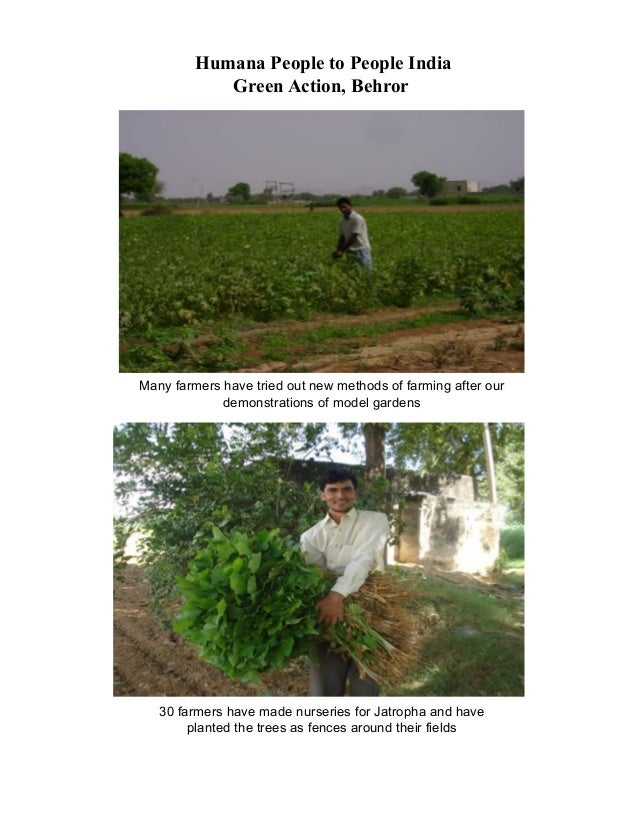 Many farmers have tried out new methods of farming after our demonstrations of model gardens Humana People to People India...