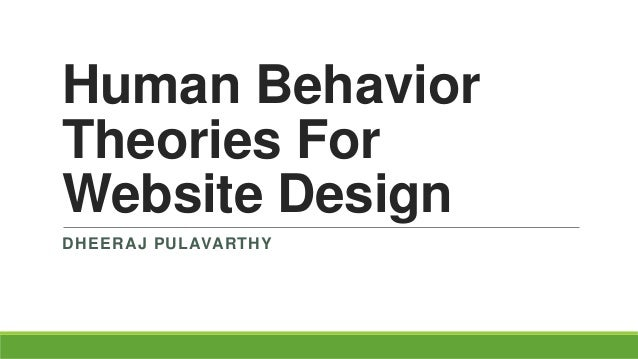 Theories of human behavior