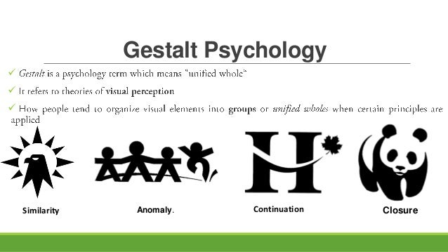gestaslt psychology Gestalt psychology helps us to understand human perception and sense-making the background to gestalt psychology is provided alongside various strengths and weaknesses and numerous examples.