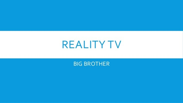 Reality television research papers