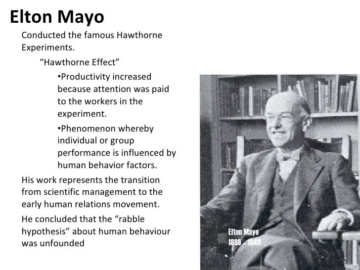 hawthorne effect and human relation movement But the study of management as a systematic field of knowledge began  behavioral and human  leading and communicating − known as hawthorne effect.