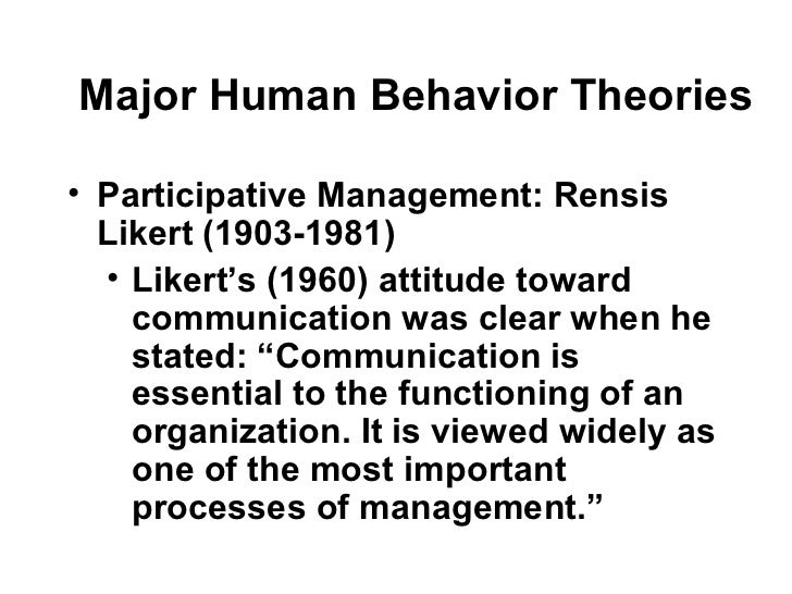 Human behaviour theories[1]