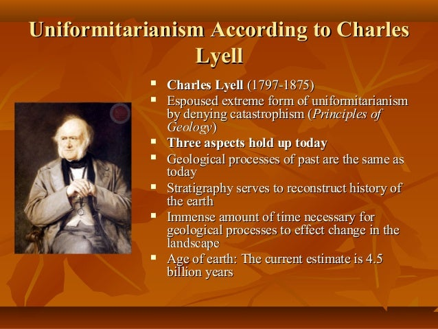 Uniformitarianism is the theory that: