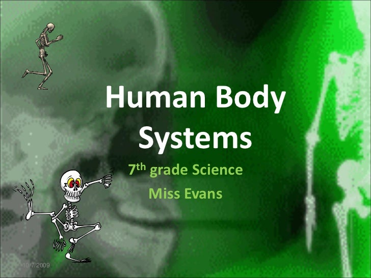 Human Body              Systems             7th grade Science                 Miss Evans10/7/2009