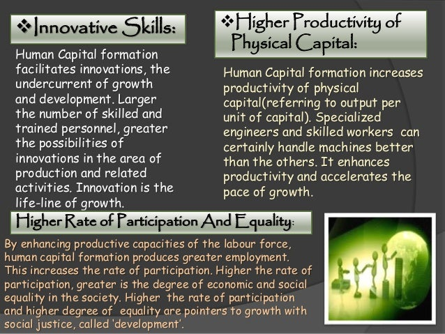 Human capital formation