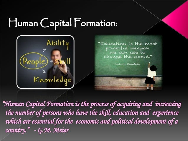 Determinants/Sources of Human Capital Formation Expenditure on Education: Expenditure on Education is the most effective w...