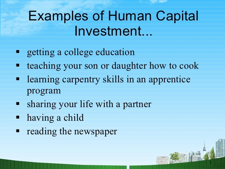 Human capital examples business report