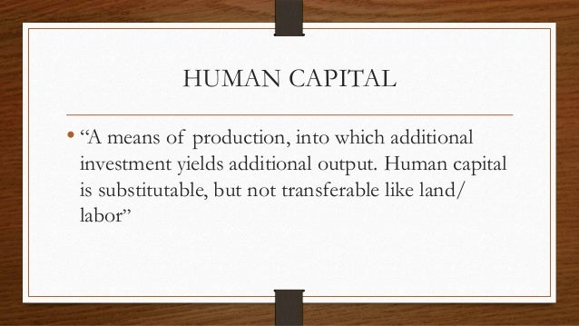 what is human being capital theory