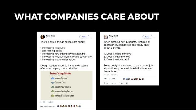 WHAT COMPANIES CARE ABOUT