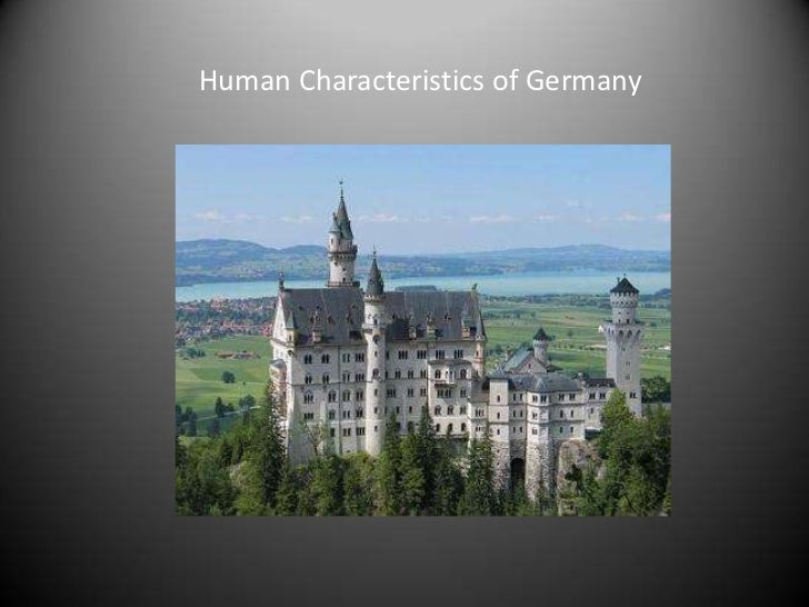 Human Characteristics of Germany<br />