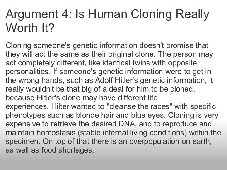 "human cloning is it dangerous to I shot a question to jose cibelli, an animal cloning scientist at michigan state university: is it time to worry about human cloning again cibelli quickly e-mailed back: ""yes"" but it's a safe bet it was somehow to do with incomplete reprogramming of the adult cells in zhang's view, it would still be crazy and."