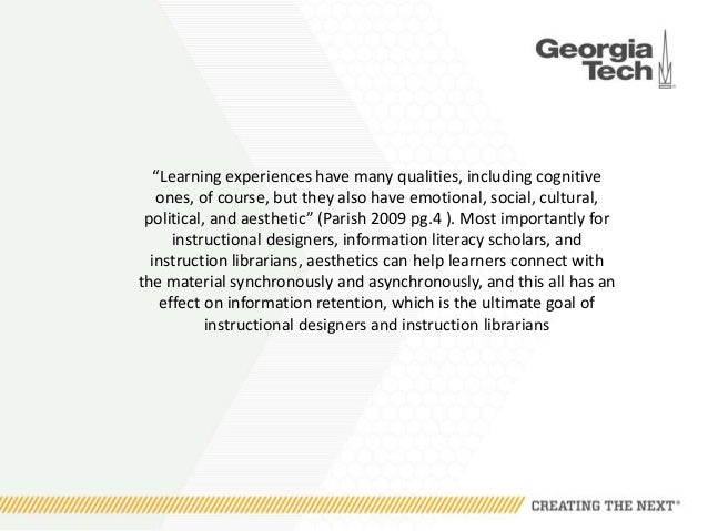 Human Cognition And Aesthetic Design In Pedagogy And Online Learning