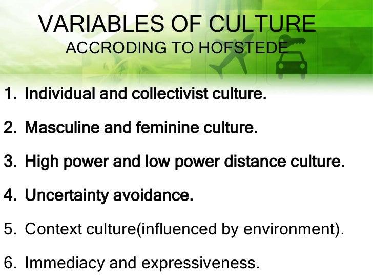 Human  cultural variables