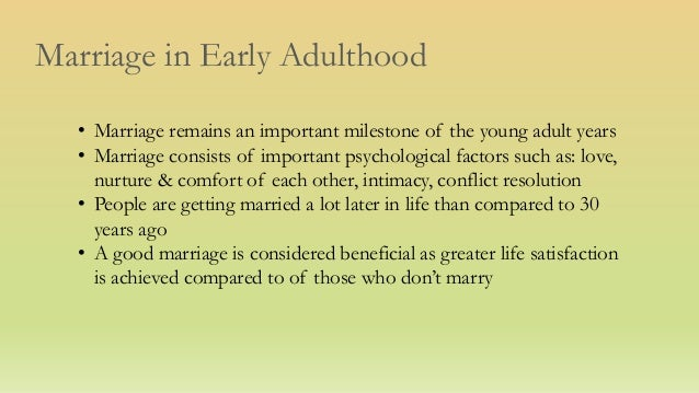 factors of early marriage Early years of marriage what factors keep married couples together and happy and what factors predict divorce the early years of marriage.